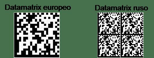 atamatrix europeo vs Datamatrix ruso